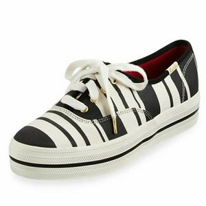 Kate Spade Triple Kick striped Keds